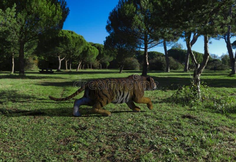 rendu 3d de la grande chasse de tigre illustration de vecteur