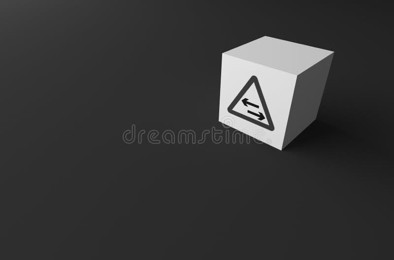 RENDU 3D de PANNEAU ROUTIER DESSUS photographie stock libre de droits