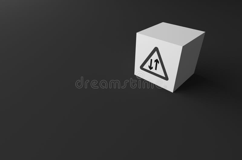 RENDU 3D de PANNEAU ROUTIER DESSUS image libre de droits