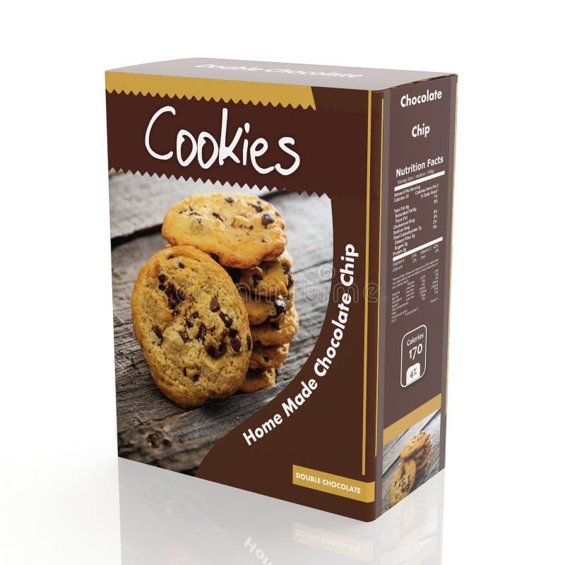 rendu 3D de papier de biscuits de chocolat illustration libre de droits