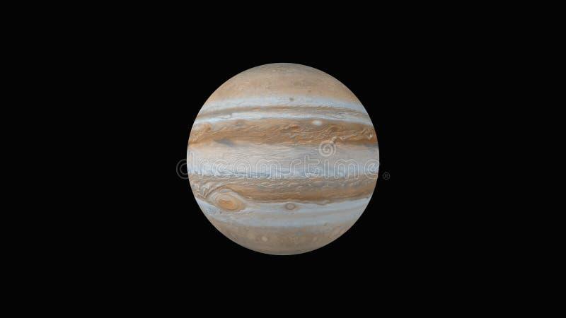 rendu 3d de planète Jupiter d'isolement sur le noir photographie stock libre de droits