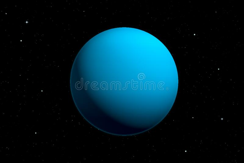 rendu 3d de planète d'Uranus illustration de vecteur