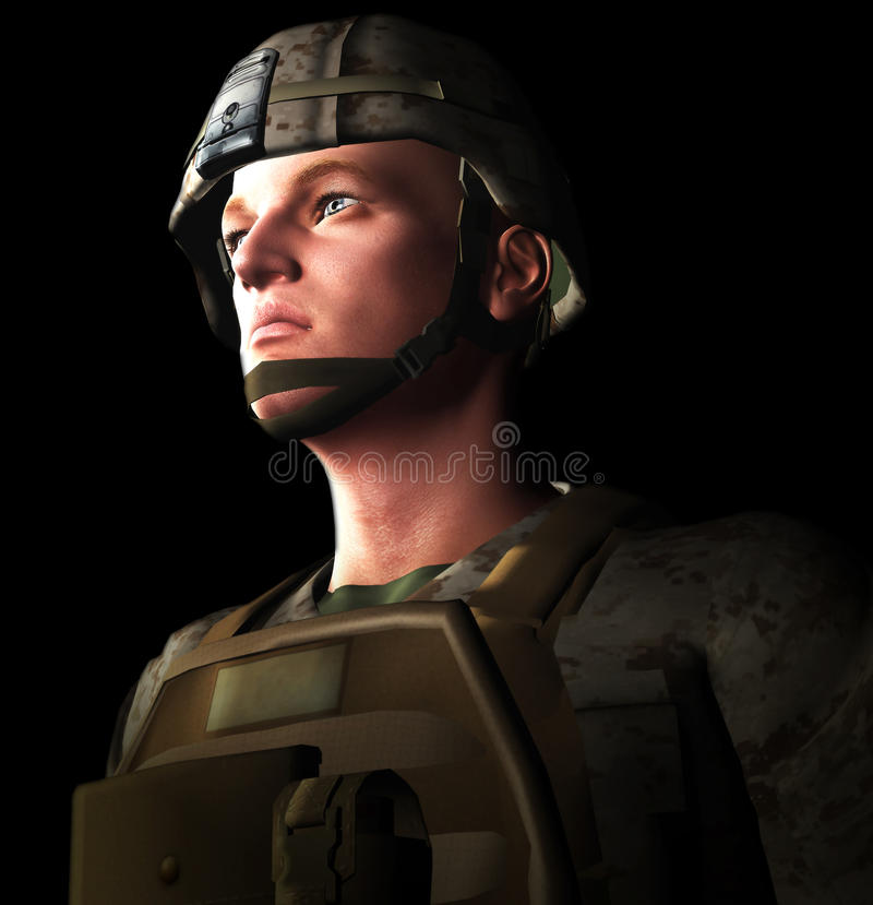 Soldat 3d Photos libres de droits