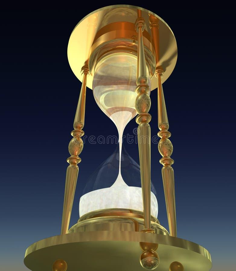 rendu 3D de verre d'isolement d'heure illustration libre de droits