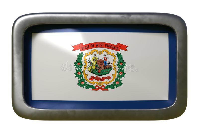 rendu 3d du drapeau occidental de Virginia State illustration de vecteur