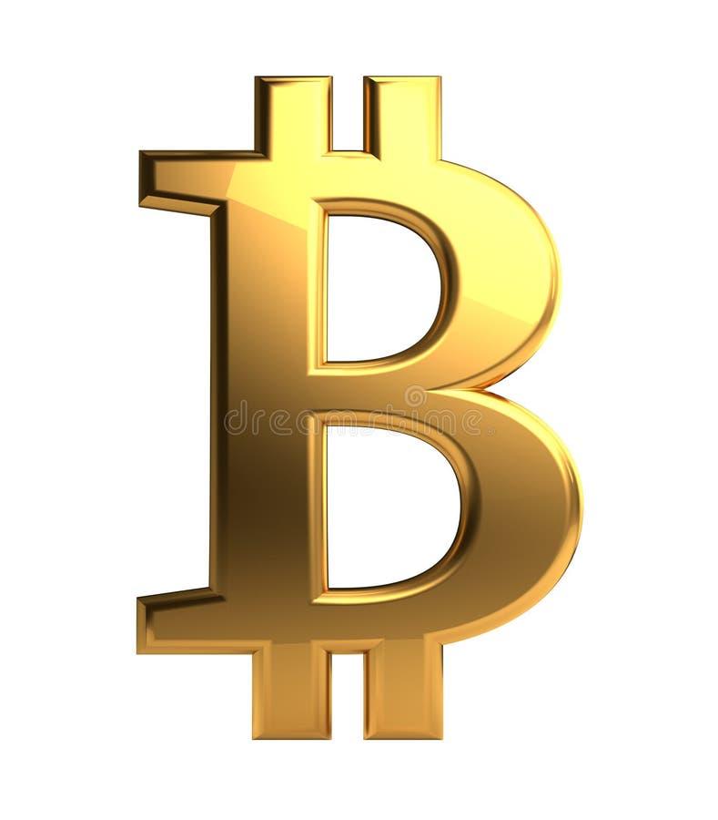 Rendu 3d d'isolement par symbole d'or de Bitcoin illustration de vecteur