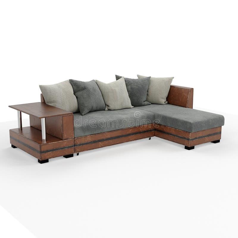 rendu 3d Sofa moderne de forme simple photo stock
