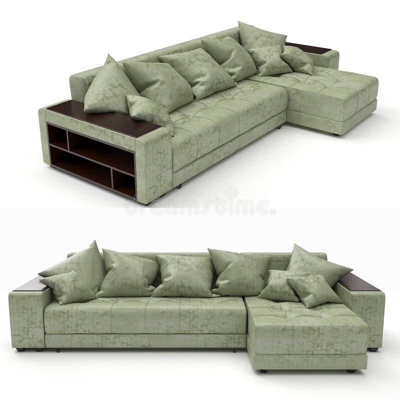 rendu 3d Sofa moderne de forme simple photographie stock