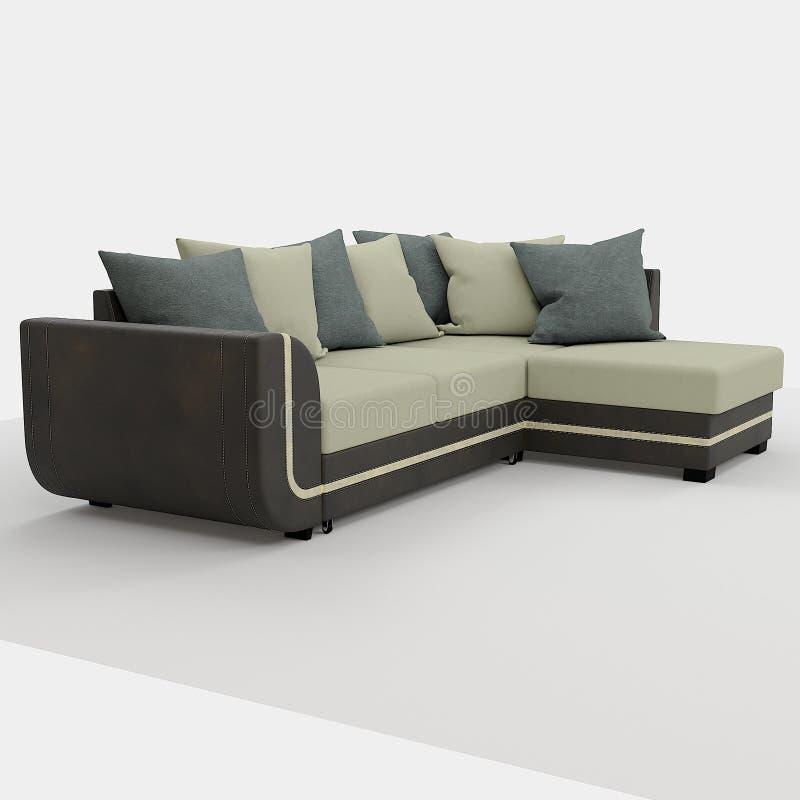 rendu 3d Sofa moderne de forme simple photos stock