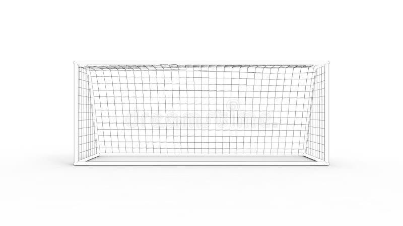 rendu 3D d'un but du football d'isolement à l'arrière-plan blanc illustration de vecteur