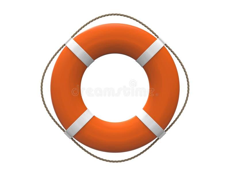 rendu 3D d'une balise de vie orange d'isolement sur le fond blanc illustration stock