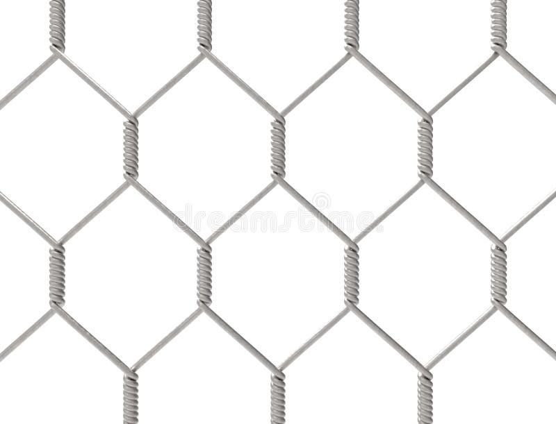 rendu 3d d'une barrière en métal d'isolement sur le fond blanc illustration libre de droits