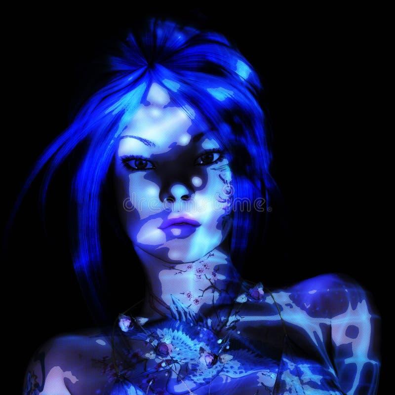 rendu 3D d'une femme d'imagination illustration libre de droits