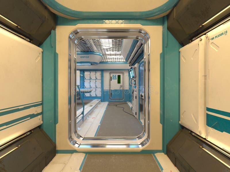 rendu de 3D CG. de bas-côté moderne de bâtiment illustration libre de droits