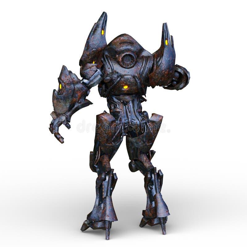 rendu de 3D CG. de humanoïde illustration libre de droits