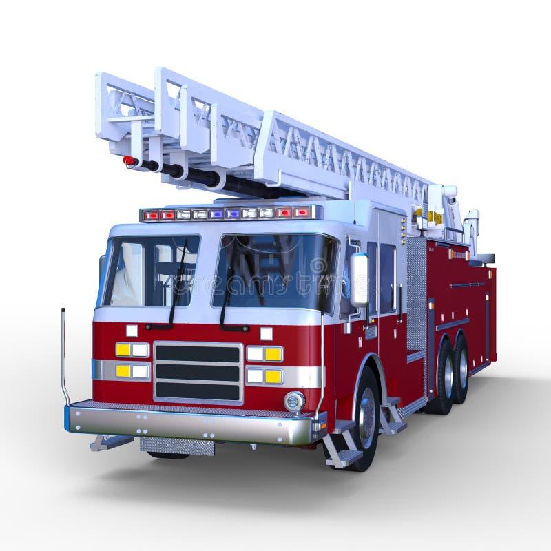 rendu de 3D CG. de pompe à incendie illustration stock