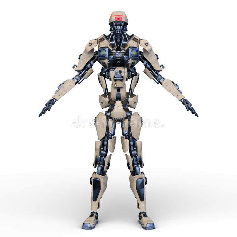 rendu de 3D CG. de robot illustration stock