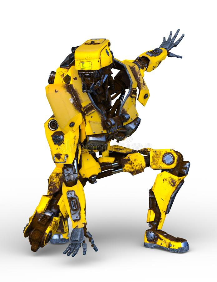 rendu de 3D CG. de robot illustration de vecteur