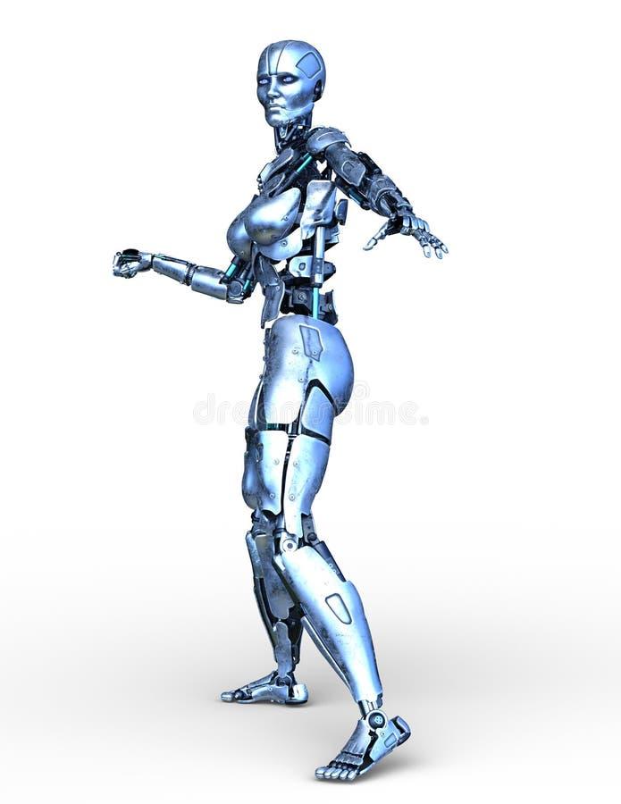 rendu de 3D CG. de robot illustration libre de droits