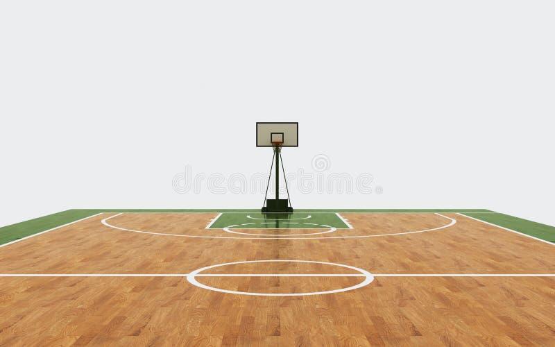 Rendu de fond d'arène de basket-ball images libres de droits