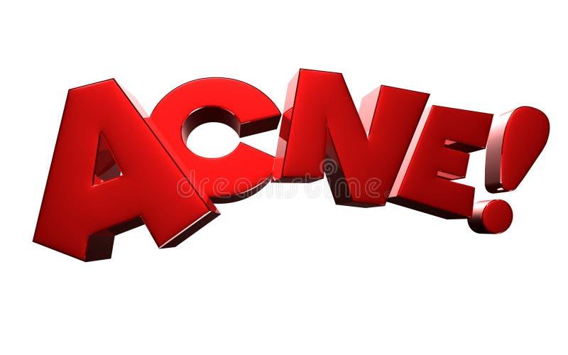 Rendu de l'acné 3D sur le fond blanc Avec le chemin de coupure illustration de vecteur