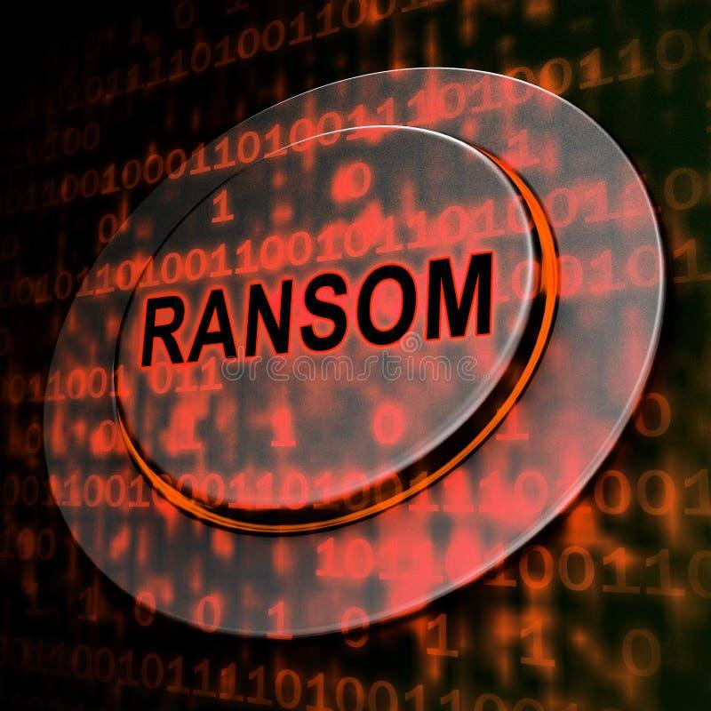 Rendu de l'extorsion 3d de données d'intru de rançon illustration libre de droits