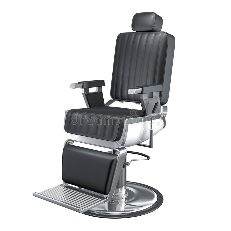 Rendu de la chaise 3d de salon de coiffure de vintage photo libre de droits