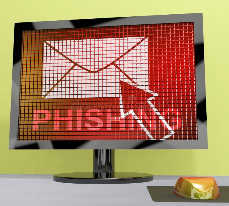Rendu de la protection 3d de menace d'Internet d'email de Phishing illustration stock