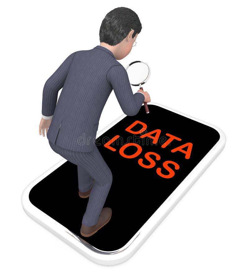 Rendu du bouclier 3d de sécurité de prévention de perte de données illustration de vecteur