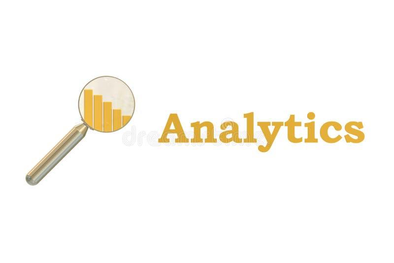 Rendu du concept 3D d'Analytics illustration stock