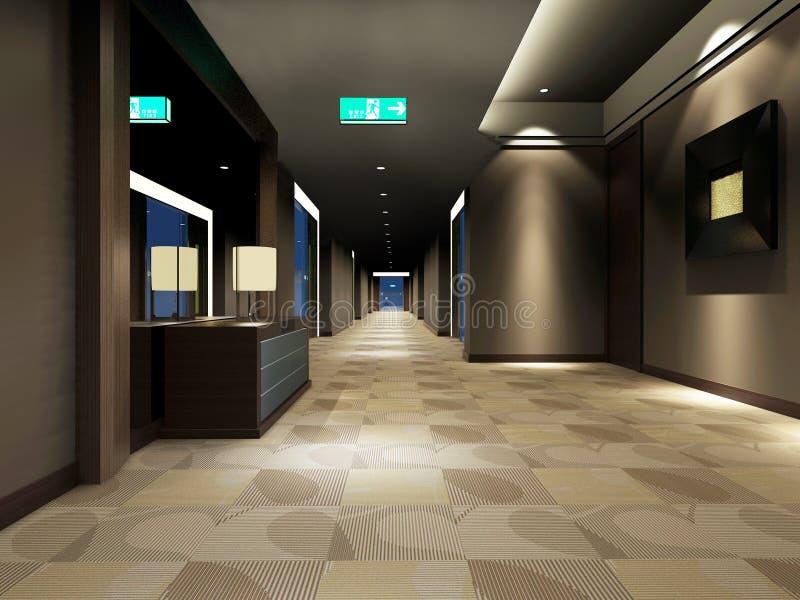Rendu du couloir moderne illustration stock