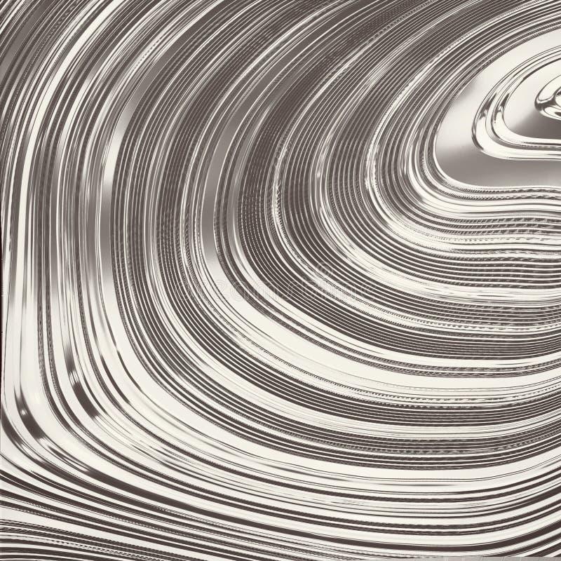 Rendu du fond abstrait de chrome illustration de vecteur