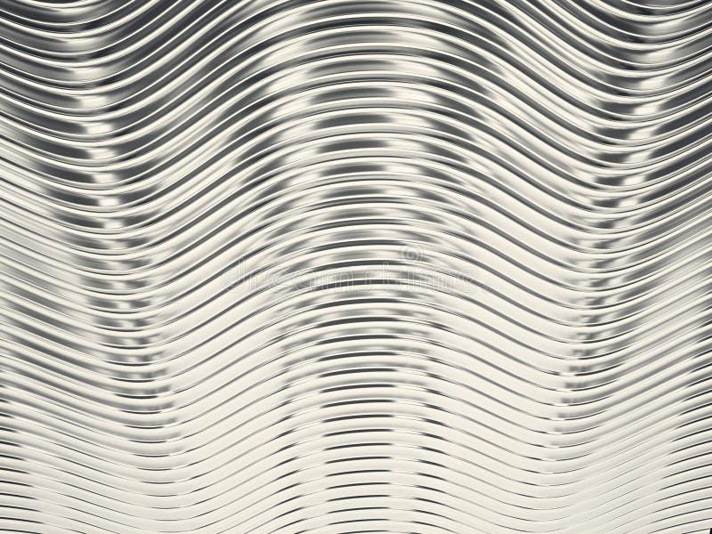 Rendu du fond bleu abstrait de chrome illustration stock