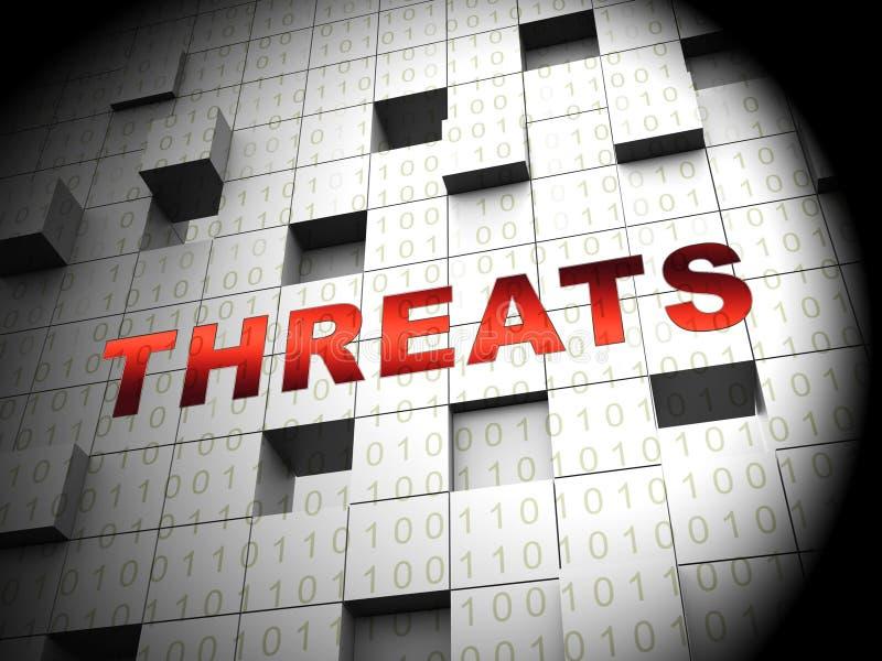 Rendu en ligne de la protection 3d de renseignement sur la menace de Cyber illustration libre de droits