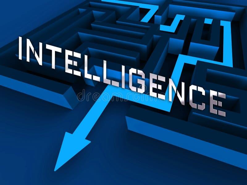 Rendu en ligne de la protection 3d de renseignement sur la menace de Cyber illustration stock