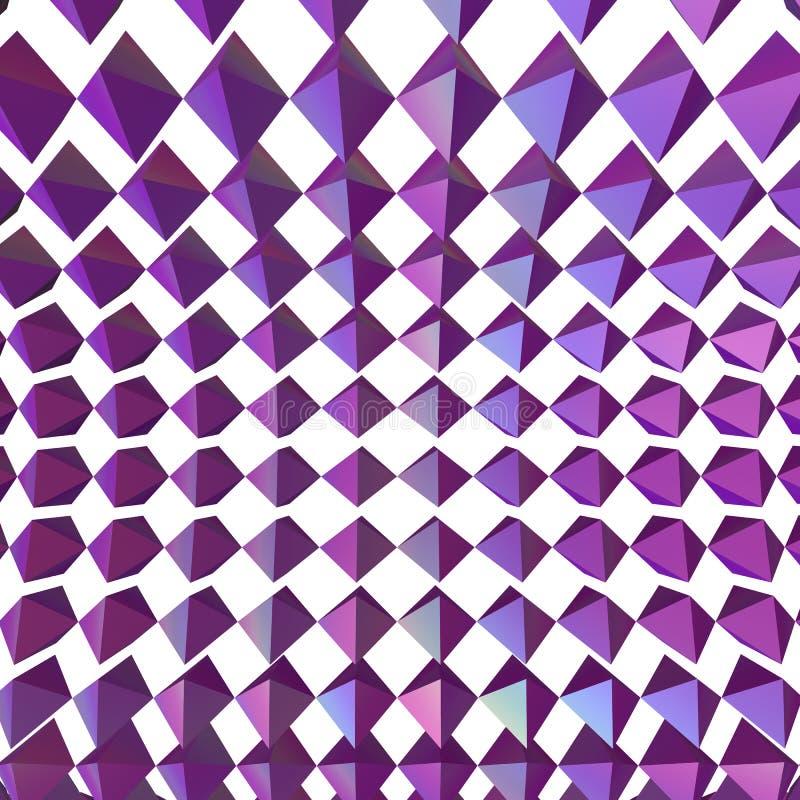 Rendu géométrique abstrait des formes 3d illustration libre de droits