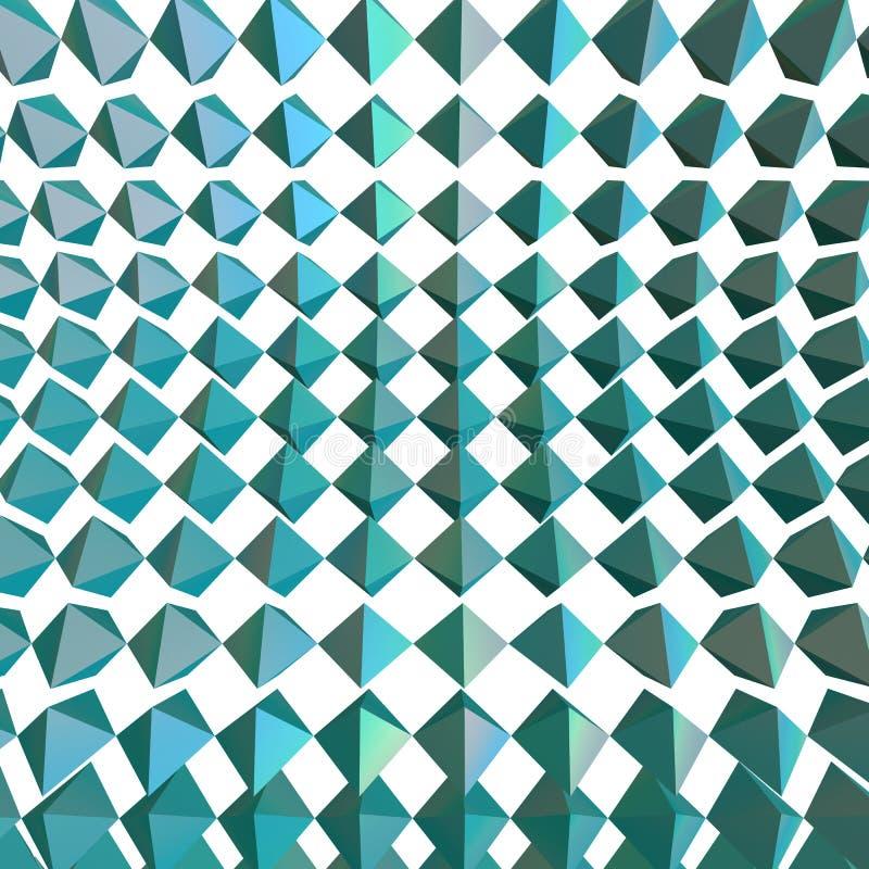 Rendu géométrique abstrait des formes 3d illustration de vecteur