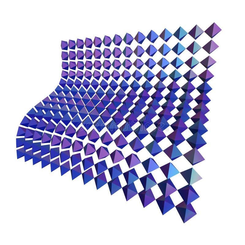 Rendu géométrique abstrait des formes 3d illustration stock