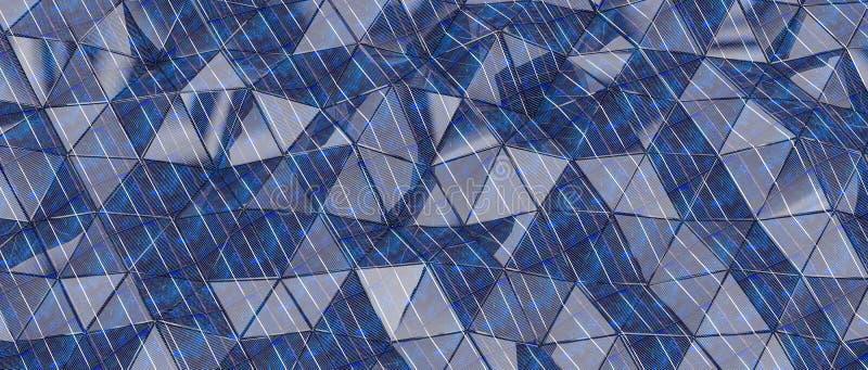 Rendu géométrique en arrière-plan 3d avec triangle images libres de droits