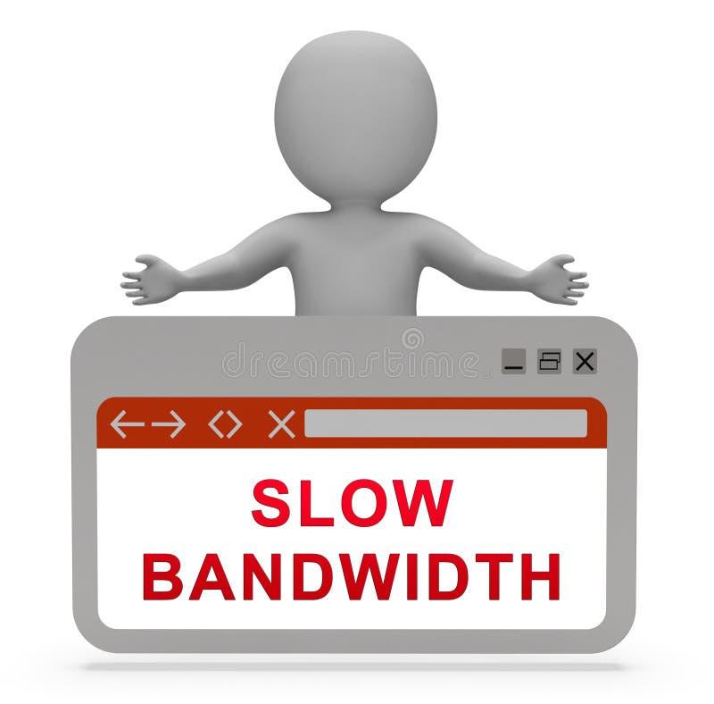 Rendu lent de la commande de puissance 3d de réseau large bande de largeur de bande illustration de vecteur