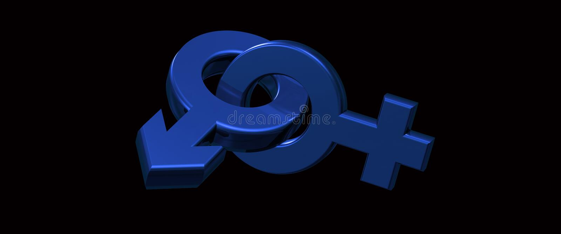 Rendu masculin et femelle des symboles 3d illustration stock