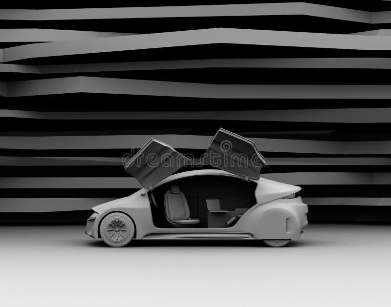 Rendu modèle d'argile de voiture auto-motrice illustration stock
