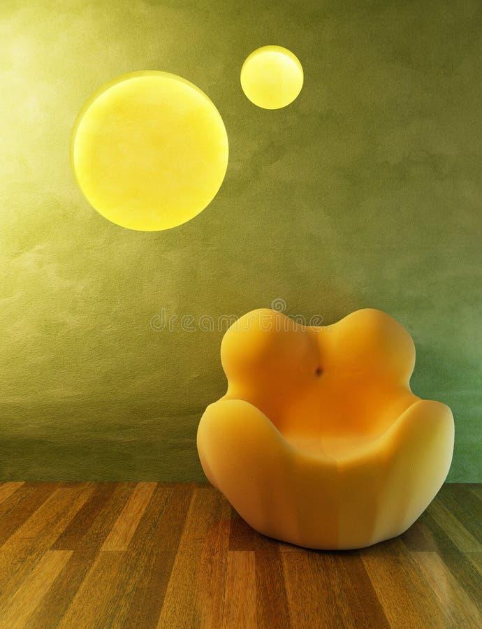 Rendu moderne de fauteuil illustration stock