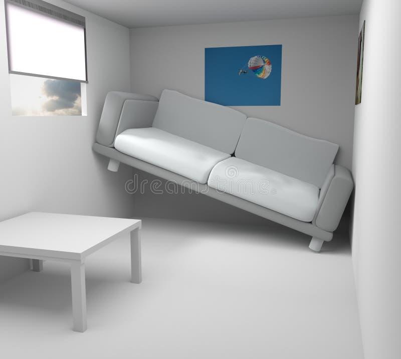 Rendu moderne très petit de salle 3d illustration libre de droits