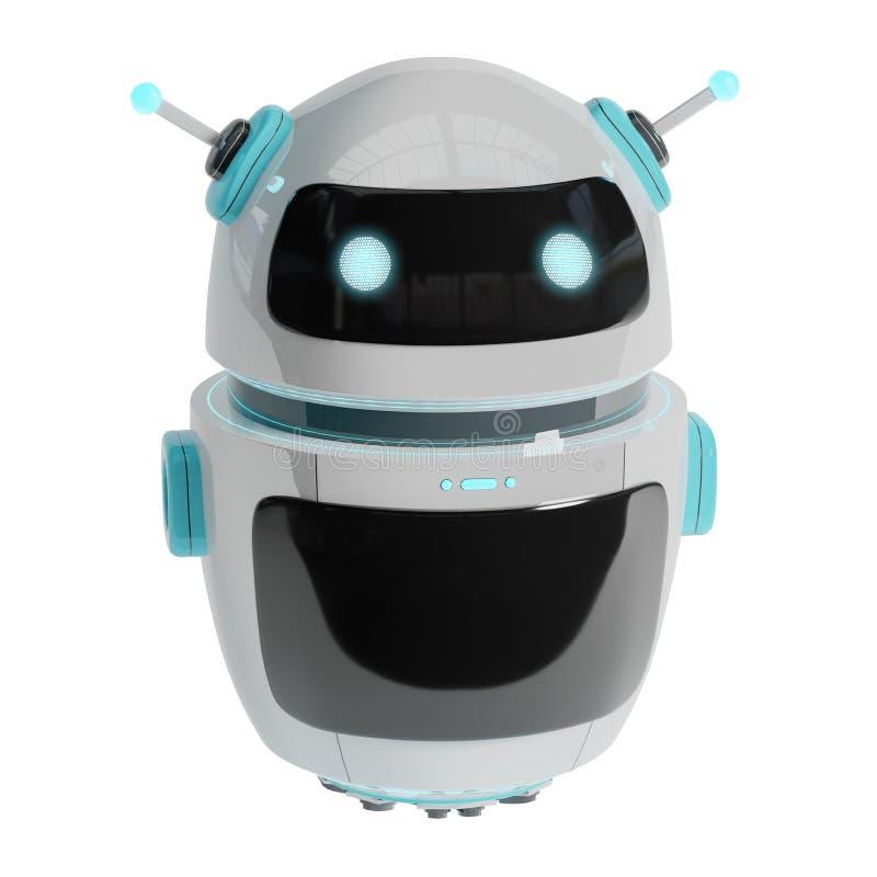 Rendu numérique futuriste du chatbot 3D illustration stock
