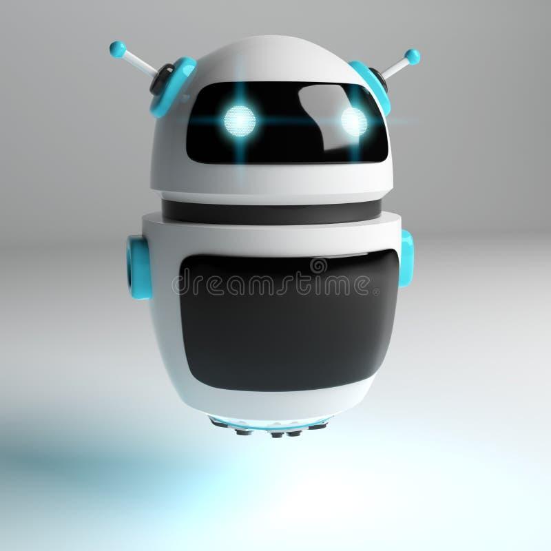 Rendu numérique futuriste du chatbot 3D illustration libre de droits