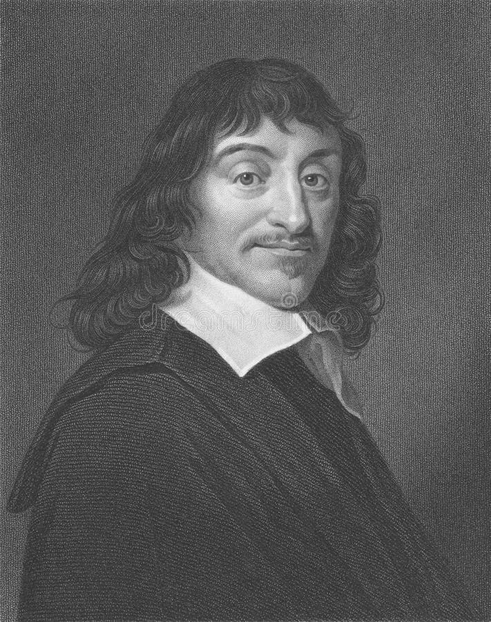 Rene Descartes stock fotografie
