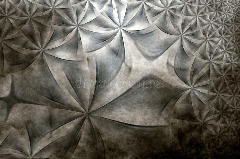 Renedered fractal , grunge texture stock illustration