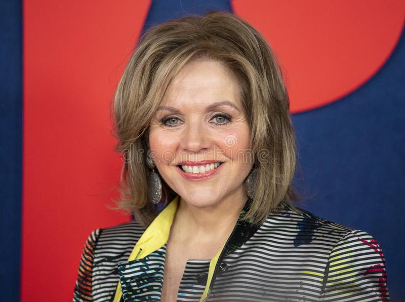 Renee Fleming at VEEP Final Season Premiere. Opera singer and actress Renee Fleming arrives for the red carpet premiere for the final season of the critically stock photography