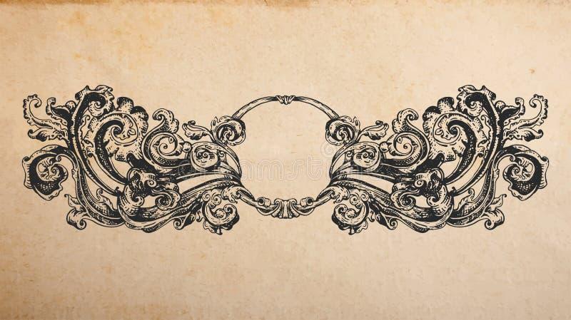 Renesansowa antyczna winieta ilustracja wektor
